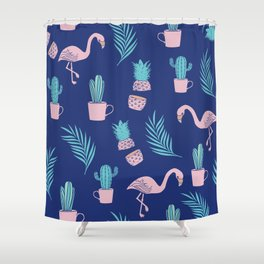 Summer Tropical Vibes Shower Curtain