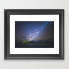 Starry night in the Cook Islands Framed Art Print