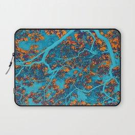 Colourful blue and orange trees Laptop Sleeve