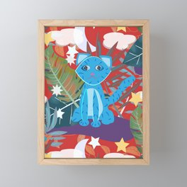Jungle Kitty Framed Mini Art Print