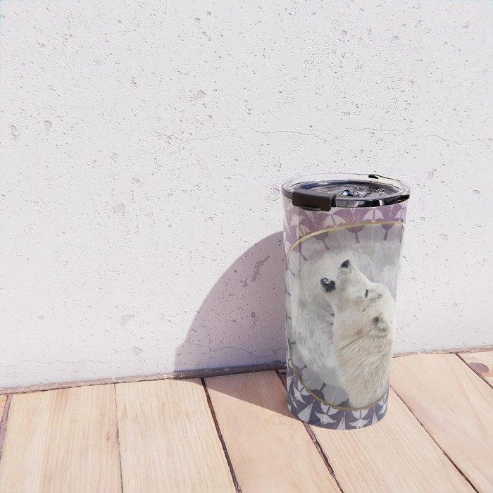 Mandala Solar Wolf Travel Mug
