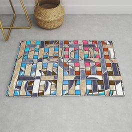 Braided patchwork Rug