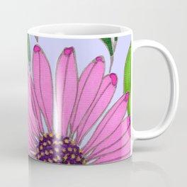 Echinacea on Lavender Coffee Mug