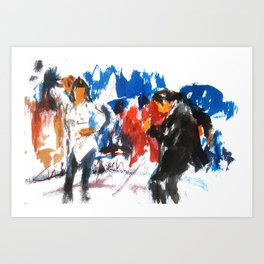 Pulp Fiction dance Art Print