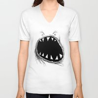 monster V-neck T-shirts featuring monster by Кaterina Кalinich
