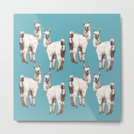 unicorn Llama - i am unique Metal Print