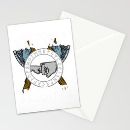 I asked Odin for a Valkyrie Viking Daughter T-Shirt Stationery Cards