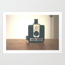 Vintage Hipster camera Art Print