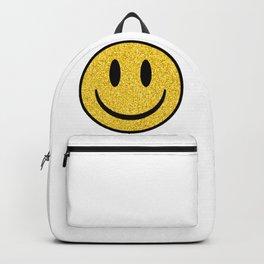 Glitter Smiley Face Backpack