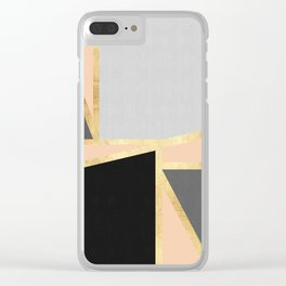 Gold collage XIII Clear iPhone Case