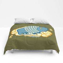 The Majestic Smoking Puffalo Comforters