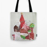 moscow Tote Bags featuring Moscow by Xenia Ericovna