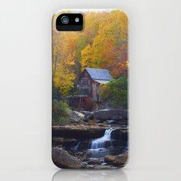 Glade Creek Mill in Autumn iPhone Case