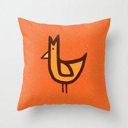 Chicken Print Throw Pillow