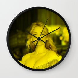 Haley Bennett - Celebrity (Florescent Color Technique) Wall Clock
