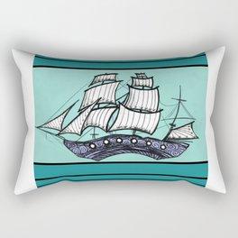 Oh, Ship. We're Going Down Rectangular Pillow