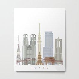 Tokyo V3 skyline poster Metal Print