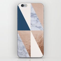 Copper Navy Marble iPhone & iPod Skin