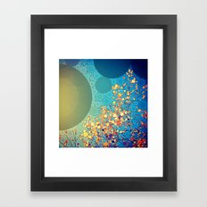 Sky and Leaves Framed Art Print
