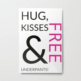 Free Hug and Kisses Metal Print