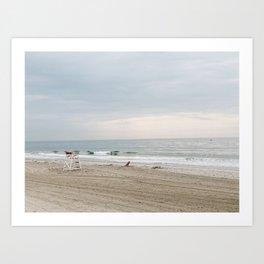 Rhode Island Beach Storm Watch at Dusk Art Print