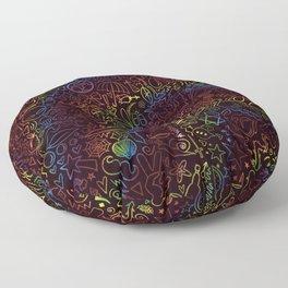 rainbow pattern Floor Pillow