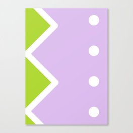 Geometric Calendar - Day 40 Canvas Print