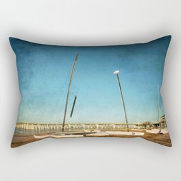 Sail Boats on the Beach Rectangular Pillow