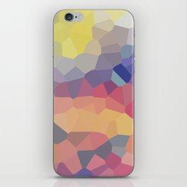 Pastel Geometric Moon Rise iPhone Skin