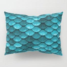 Teal Mermaid Tail Scales Pillow Sham