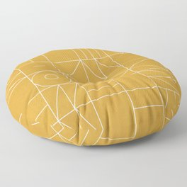 My Favorite Geometric Patterns No.4 - Mustard Yellow Floor Pillow