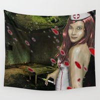 nurse Wall Tapestries featuring Chaotic Nurse by dr.Mador
