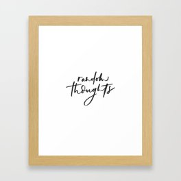 Random Thought Framed Art Print