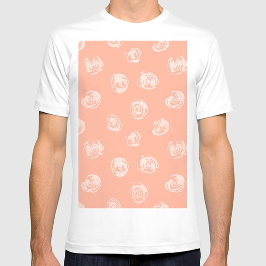 Sweet Life Rosebud Peach Coral Pink T-shirt By Simple Luxe