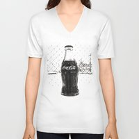 coke V-neck T-shirts featuring Frosty Coke by Vorona Photography