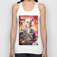 hotline miami Tank Tops featuring Night Out: Hotline Miami by GiancarloVargas
