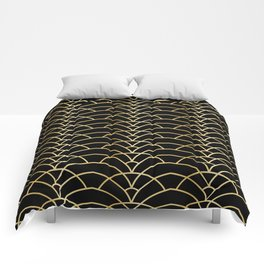 Art Deco Series - Black & Gold Comforters