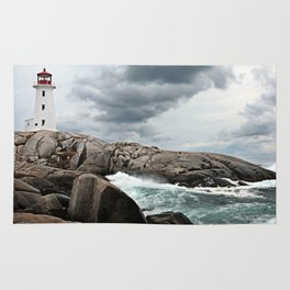 Peggy's Cove Light House -- Nova Scotia Rug