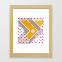 Fish - triangle graphic Framed Art Print