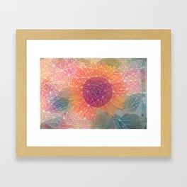 Sunflower Constellation Framed Art Print