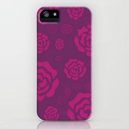 Plum Raspberry Roses iPhone Case