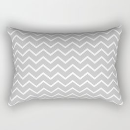 Zigzagged (White & Gray Pattern) Rectangular Pillow