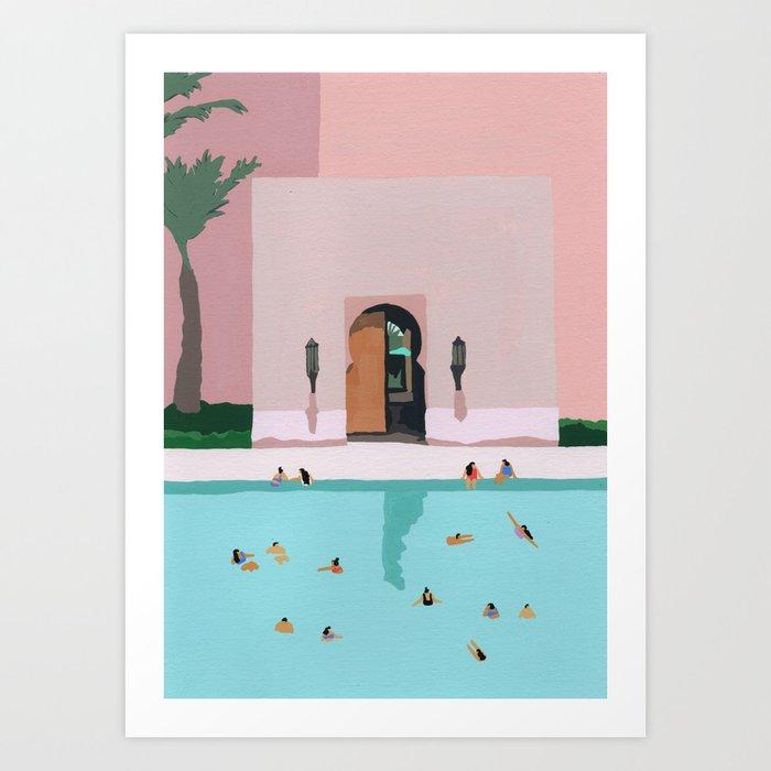 Middle Eastern Swims Kunstdrucke