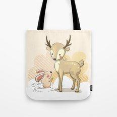the deer & rabbit Tote Bag