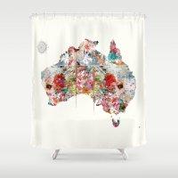 australia Shower Curtains featuring Australia by bri.buckley