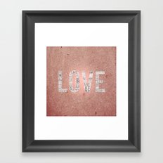 Love in a Word  Framed Art Print