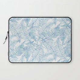 Fern Silhouette Blue Laptop Sleeve