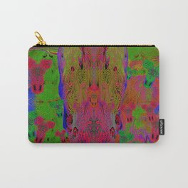 Sugar Skull and Girly Corks (Ultraviolet, Psychedelic) Carry-All Pouch
