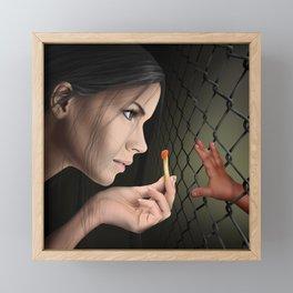 Famine: Horsewoman of the Apocalypse  Framed Mini Art Print