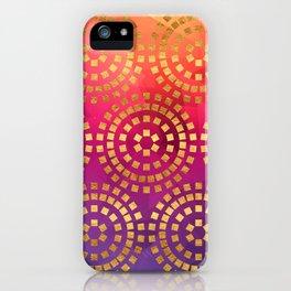 Summer Heat Geometric Pattern iPhone Case